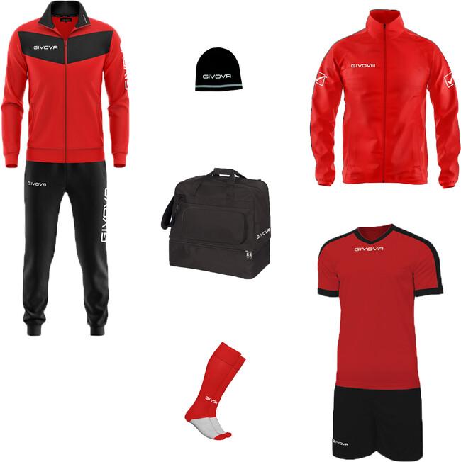 BOX VITTORIA červená-čierna S