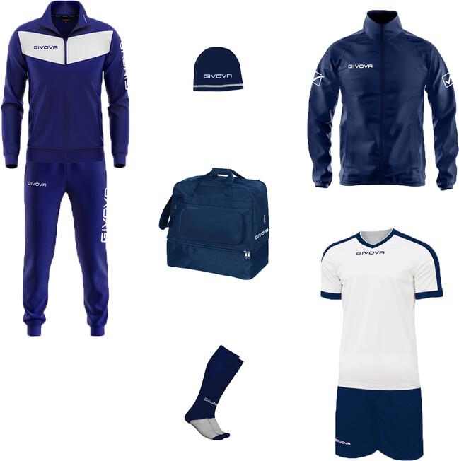 BOX VITTORIA modrá-biela S