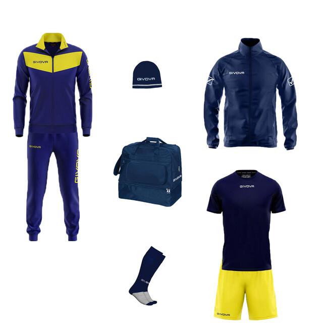BOX VITTORIA modrá-žltá S