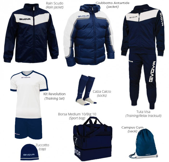 BOX VITTORIA PREMIUM modrá-biela S
