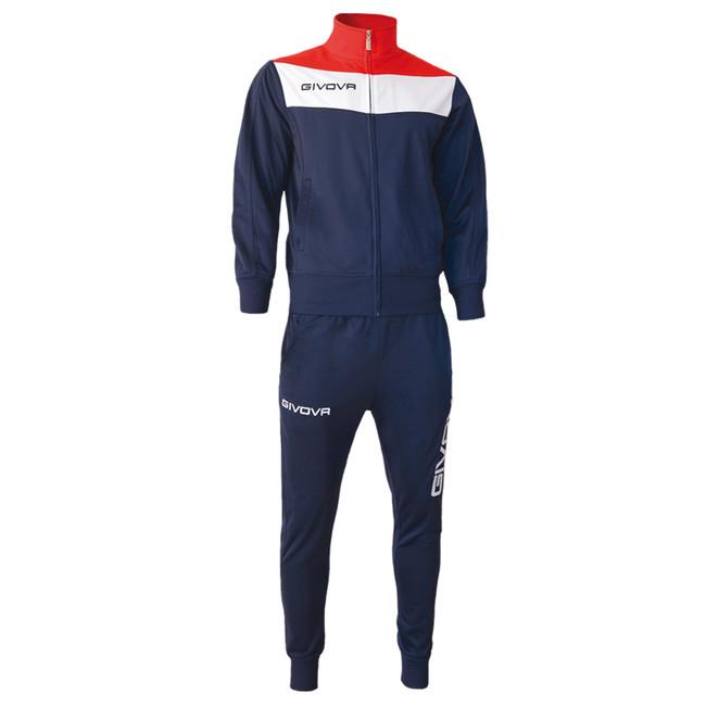 TUTA CAMPO modrá-červená XL