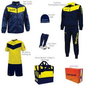BOX VITTORIA modrá-žltá