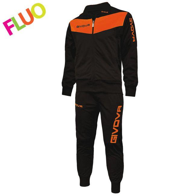 TUTA VISA FLUO čierna-svietivá oranžová